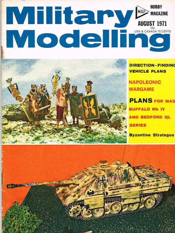 Image for MILITARY MODELLING VOLUME 1: ISSUE NO.8: AUGUST 1971