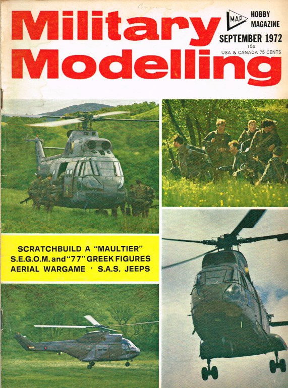 Image for MILITARY MODELLING VOLUME 2: ISSUE NO.9: SEPTEMBER 1972