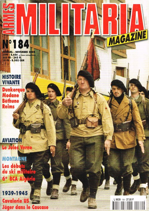 Image for ARMES MILITARIA MAGAZINE NO. 184 (FRENCH TEXT)
