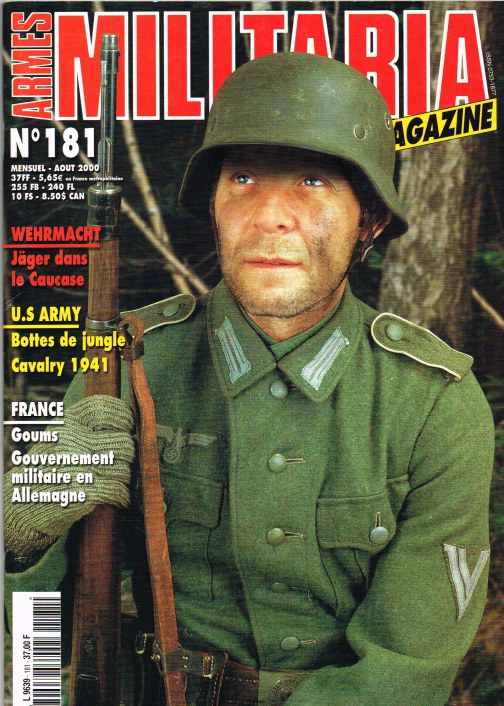 Image for ARMES MILITARIA MAGAZINE NO. 181 (FRENCH TEXT)