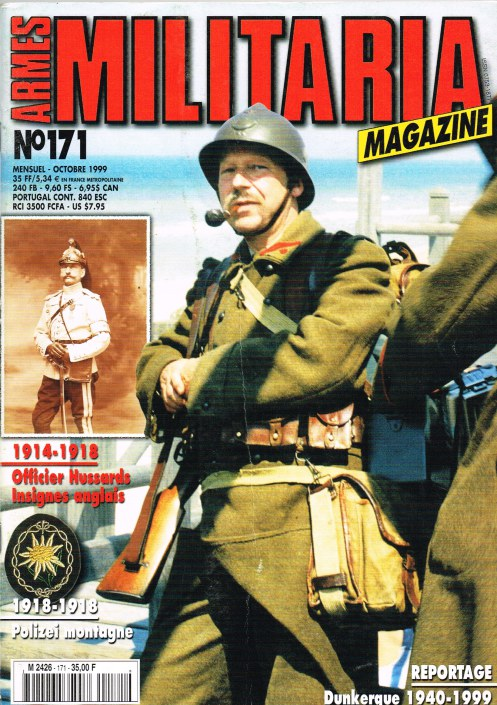 Image for ARMES MILITARIA MAGAZINE NO. 171 (FRENCH TEXT)