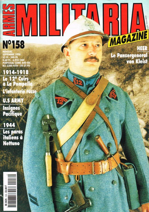 Image for ARMES MILITARIA MAGAZINE NO. 158 (FRENCH TEXT)