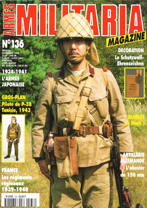 Image for ARMES MILITARIA MAGAZINE NO. 136 (FRENCH TEXT)
