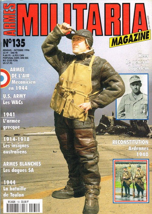 Image for ARMES MILITARIA MAGAZINE NO. 135 (FRENCH TEXT)