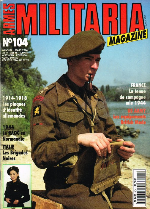 Image for ARMES MILITARIA MAGAZINE NO. 104 (FRENCH TEXT)