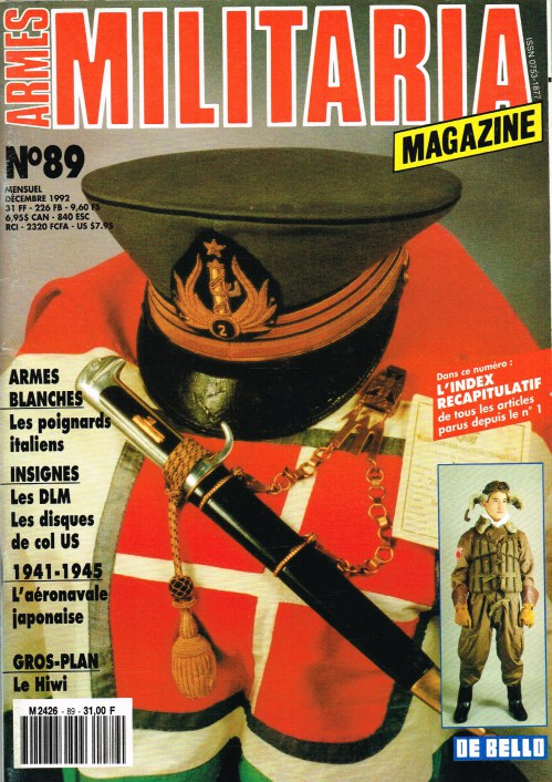 Image for ARMES MILITARIA MAGAZINE NO. 89 (FRENCH TEXT)