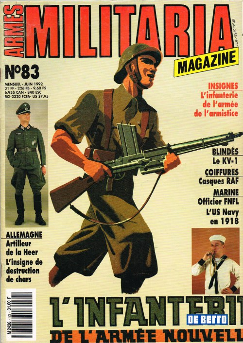 Image for ARMES MILITARIA MAGAZINE NO. 83 (FRENCH TEXT)