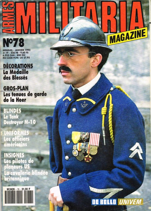 Image for ARMES MILITARIA MAGAZINE NO. 78 (FRENCH TEXT)