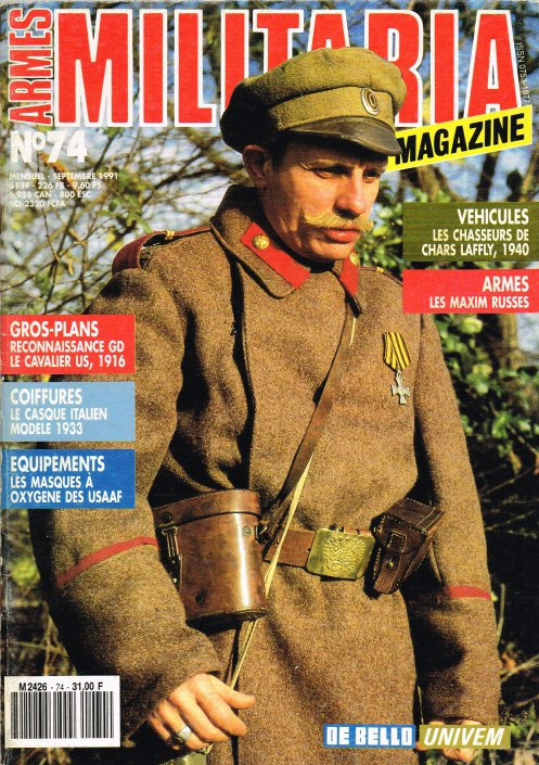 Image for ARMES MILITARIA MAGAZINE NO. 74 (FRENCH TEXT)