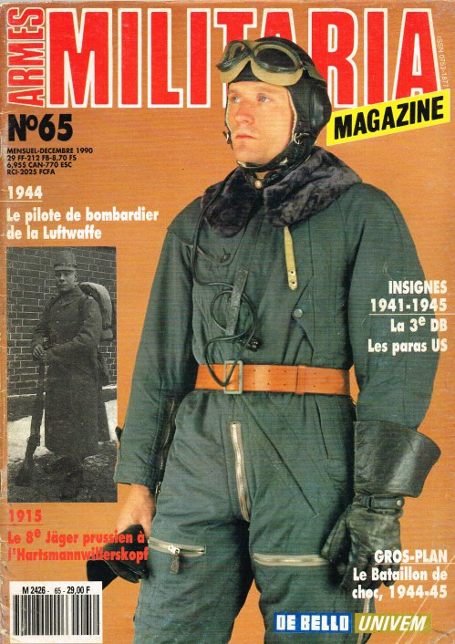 Image for ARMES MILITARIA MAGAZINE NO. 65 (FRENCH TEXT)