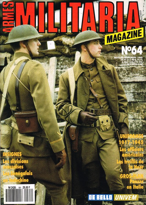 Image for ARMES MILITARIA MAGAZINE NO. 64 (FRENCH TEXT)