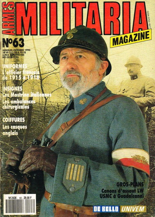 Image for ARMES MILITARIA MAGAZINE NO. 63 (FRENCH TEXT)