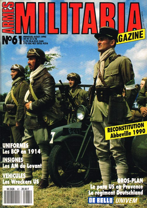Image for ARMES MILITARIA MAGAZINE NO. 61 (FRENCH TEXT)