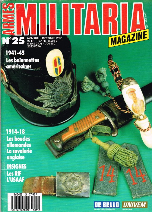 Image for ARMES MILITARIA MAGAZINE NO. 25 (FRENCH TEXT)