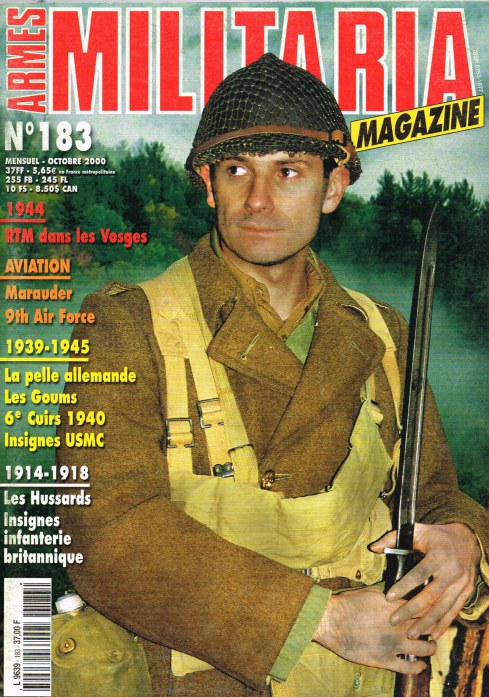 Image for ARMES MILITARIA MAGAZINE NO. 183 (FRENCH TEXT)