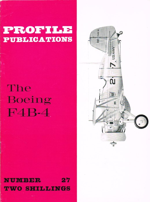 Image for PROFILE PUBLICATIONS NUMBER 27: THE BOEING F4B-4