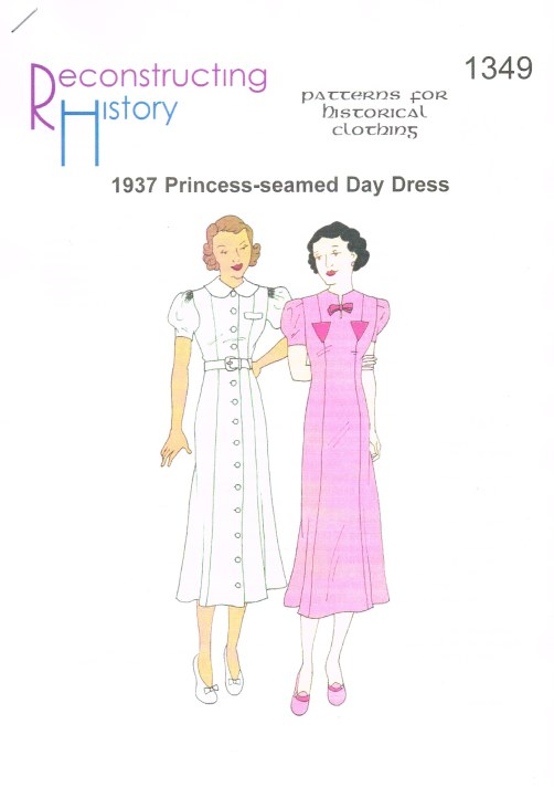 Image for RH1349: 1937 PRINCESS-SEAMED DAY DRESS