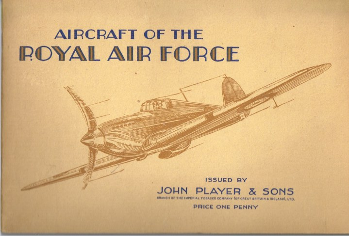 Image for AIRCRAFT OF THE ROYAL AIR FORCE (SET OF 50 CIGARETTE CARDS IN ALBUM)
