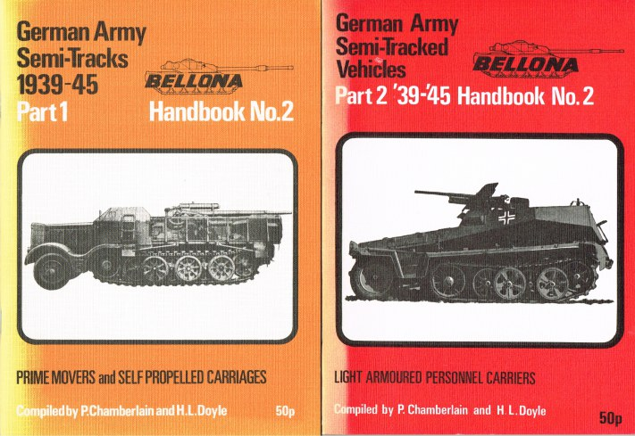 Image for SEMI-TRACKED VEHICLES OF THE GERMAN ARMY 1939-45: PART 1: PRIME MOVERS AND SELF PROPELLED CARRIAGES + PART 2: LIGHT ARMOURED PERSONNEL CARRIERS (TWO VOLUME SET)