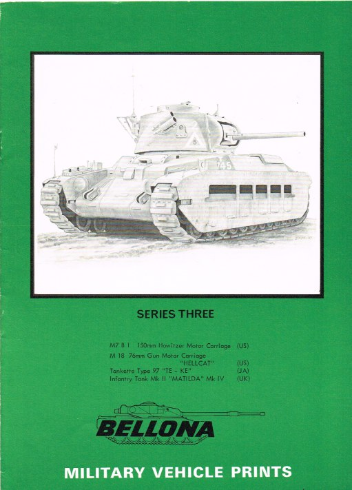 Image for BELLONA MILITARY VEHICLE PRINTS: SERIES THREE