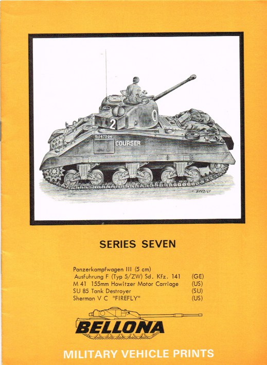 Image for BELLONA MILITARY VEHICLE PRINTS: SERIES SEVEN