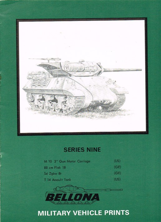 Image for BELLONA MILITARY VEHICLE PRINTS: SERIES NINE