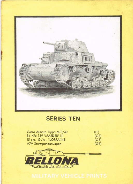 Image for BELLONA MILITARY VEHICLE PRINTS: SERIES TEN
