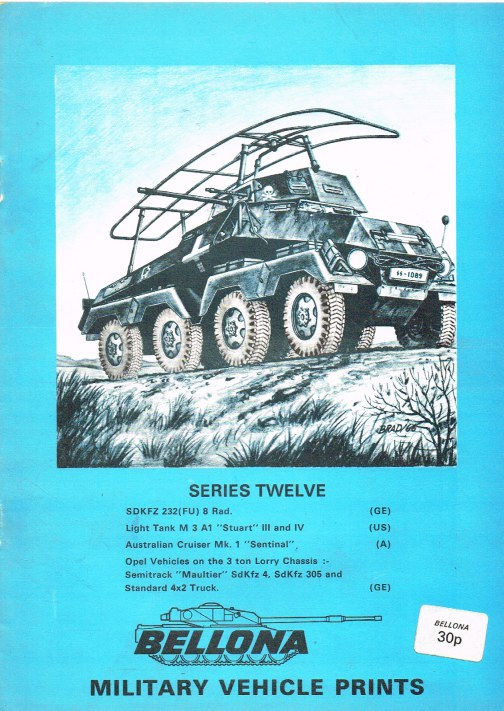 Image for BELLONA MILITARY VEHICLE PRINTS: SERIES TWELVE