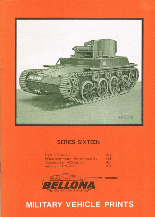 Image for BELLONA MILITARY VEHICLE PRINTS: SERIES SIXTEEN