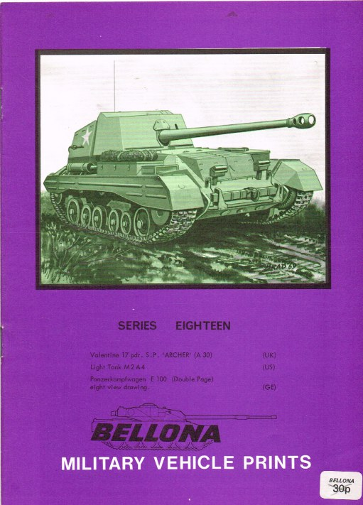 Image for BELLONA MILITARY VEHICLE PRINTS: SERIES EIGHTEEN