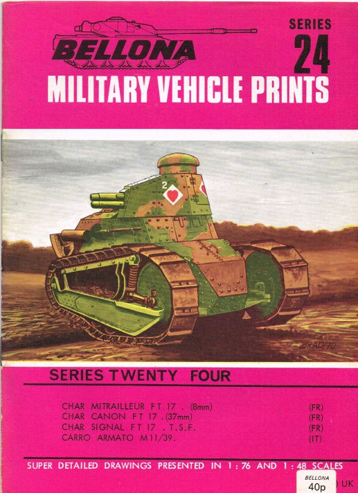 Image for BELLONA MILITARY VEHICLE PRINTS: SERIES TWENTY FOUR
