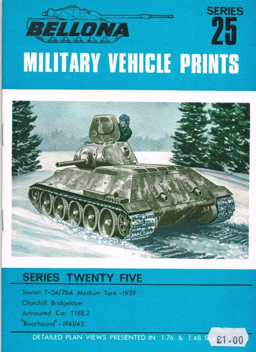 Image for BELLONA MILITARY VEHICLE PRINTS: SERIES TWENTY FIVE