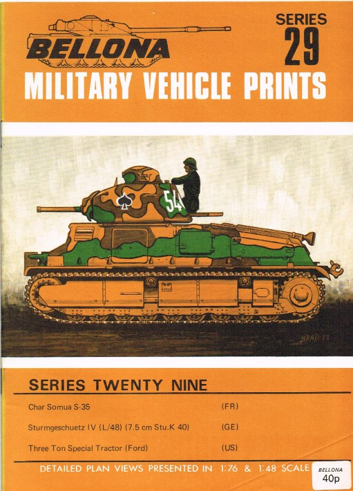 Image for BELLONA MILITARY VEHICLE PRINTS: SERIES TWENTY NINE