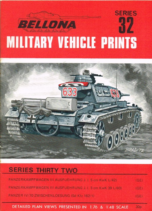 Image for BELLONA MILITARY VEHICLE PRINTS: SERIES THIRTY TWO
