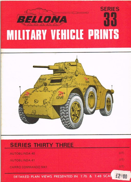 Image for BELLONA MILITARY VEHICLE PRINTS: SERIES THIRTY THREE