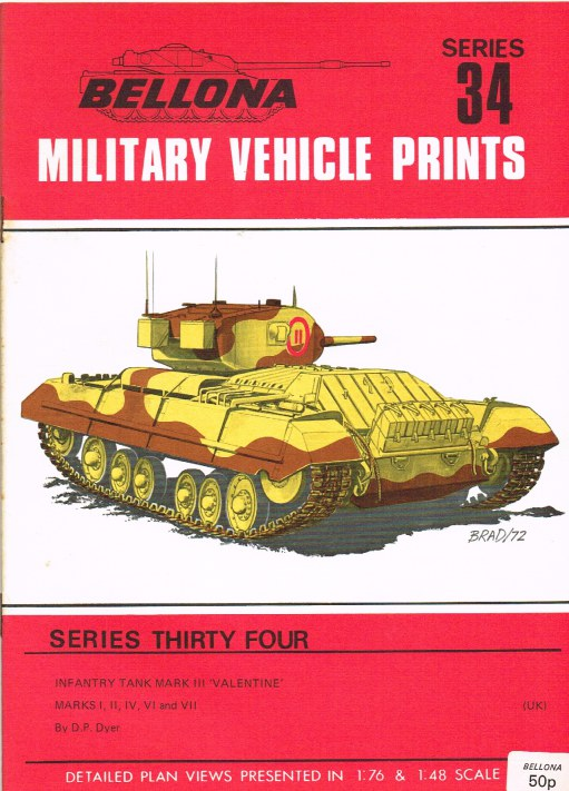 Image for BELLONA MILITARY VEHICLE PRINTS: SERIES THIRTY FOUR