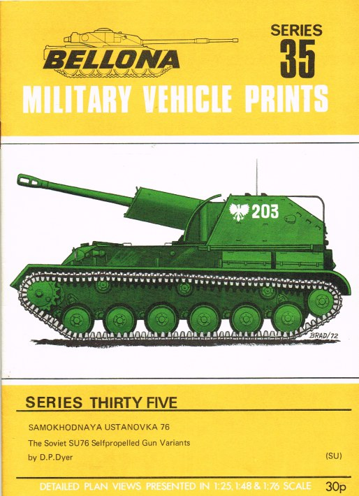 Image for BELLONA MILITARY VEHICLE PRINTS: SERIES THIRTY FIVE