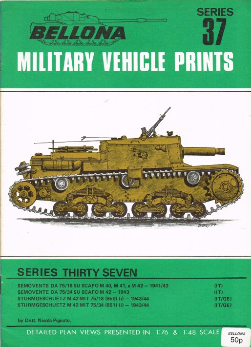 Image for BELLONA MILITARY VEHICLE PRINTS: SERIES THIRTY SEVEN