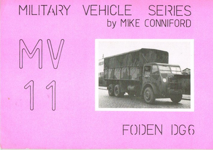 Image for MILITARY VEHICLE SERIES MV11: FODEN DG6