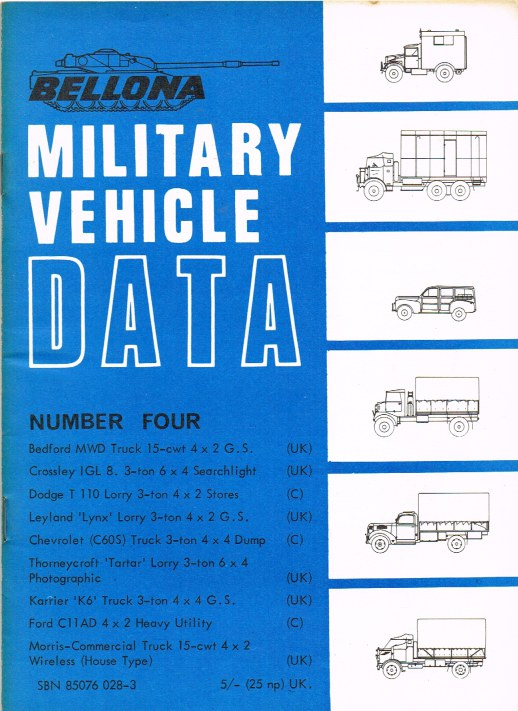 Image for BELLONA MILITARY VEHICLE DATA: NUMBER FOUR