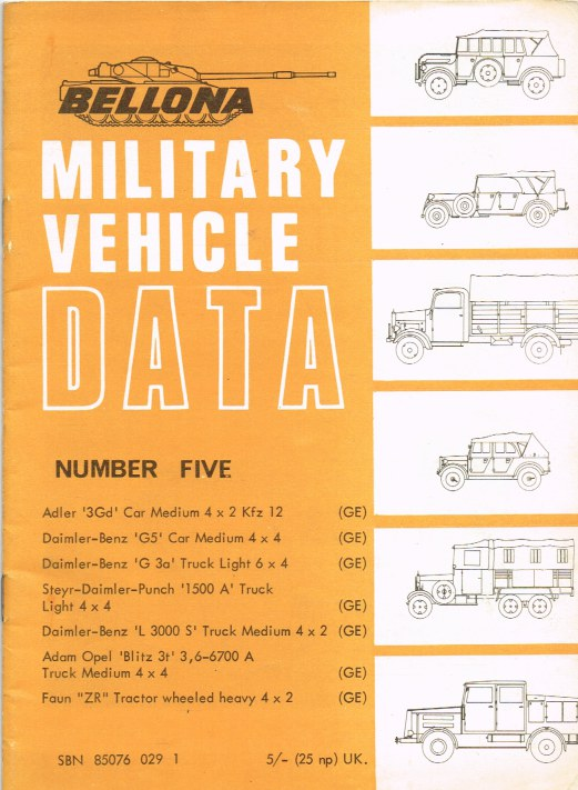 Image for BELLONA MILITARY VEHICLE DATA: NUMBER FIVE