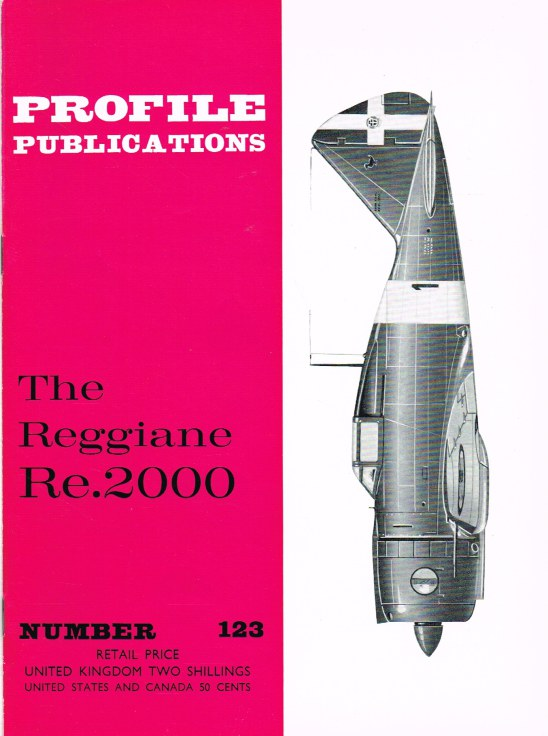 Image for PROFILE PUBLICATIONS NUMBER 123: THE REGGIANE RE.2000