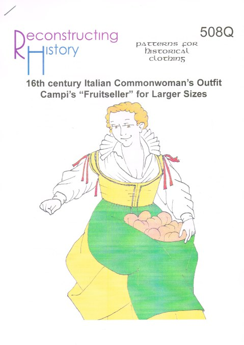 "Image for RH508Q: 16TH CENTURY ITALIAN COMMONWOMAN'S OUTFIT - CAMPI'S ""FRUITSELLER"" FOR LARGER SIZES"