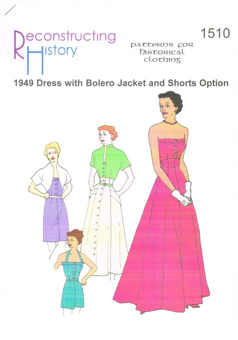 Image for RH1510: 1949 'NEW LOOK' SUNDRESS WITH BOLERO JACKET AND SHORTS OPTION