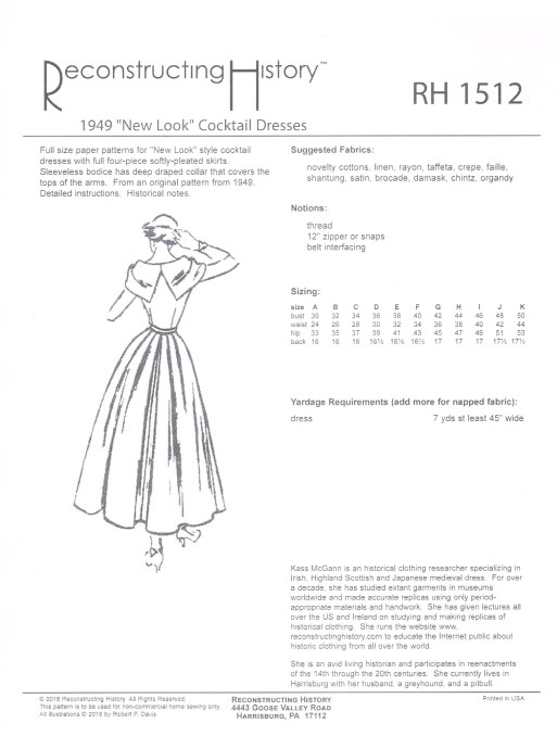 Image for RH1512: 1949 'NEW LOOK' COCKTAIL DRESSES