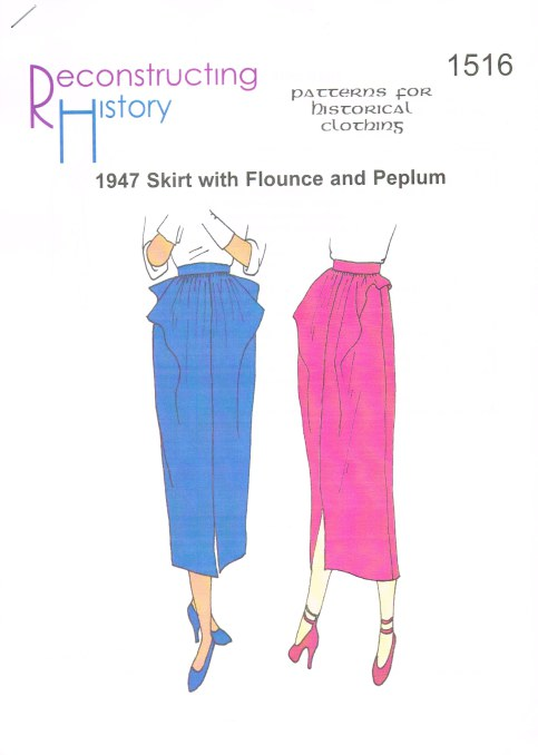 Image for RH1516: 1947 SKIRT WITH FLOUNCE AND PEPLUM