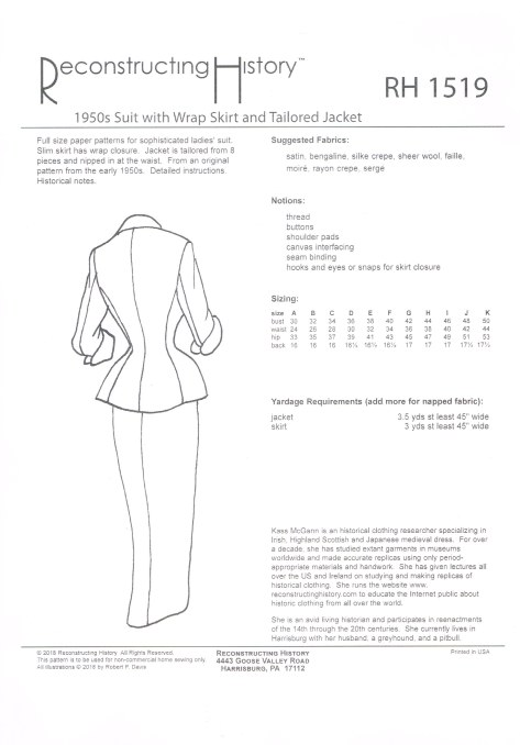Image for RH1519: 1950S SUIT WITH WRAP SKIRT AND TAILORED JACKET