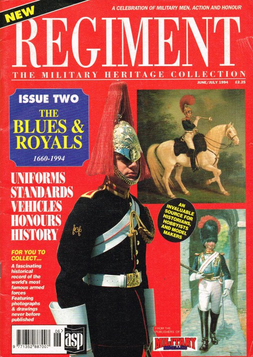 Image for REGIMENT: ISSUE TWO - THE BLUES & ROYALS 1660-1994