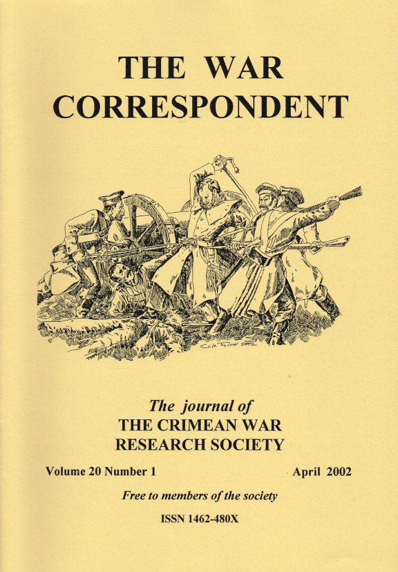 Image for THE WAR CORRESPONDENT: THE JOURNAL OF THE CRIMEAN WAR RESEARCH SOCIETY : VOLUME 20, NUMBER 1 APRIL 2002