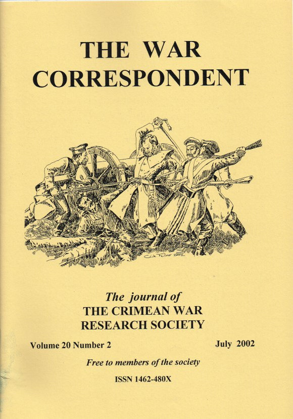 Image for THE WAR CORRESPONDENT: THE JOURNAL OF THE CRIMEAN WAR RESEARCH SOCIETY : VOLUME 20, NUMBER 2 JULY 2002